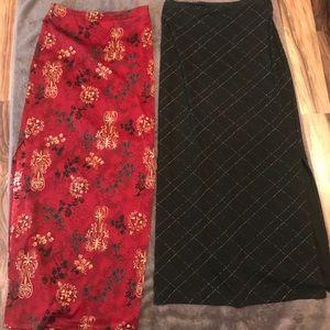 2 long skirts